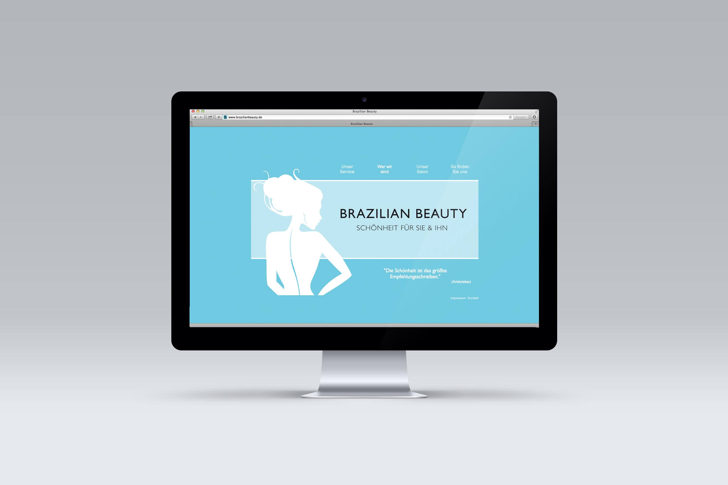 Webdesign Projekt Brazilian Beauty 01